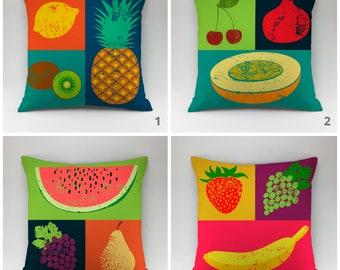 Kitchen pillow cover fruit pillow case Cushion cover modern pillow Decorative pillow Throw pillow kitchen decor vegetable pillow food pillow