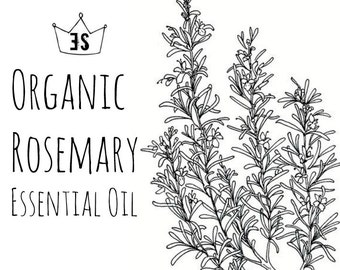 Organic Rosemary Essential Oil - Organic Rosemary Oil - Pure Essential Oils - Organic Essential Oil