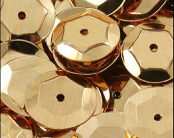 Metallic Gold Cupped Sequins 8mm - JR02702