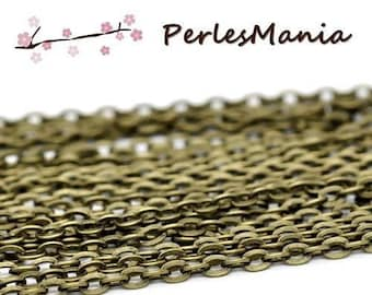 10 m chain BRONZE 363298 43 mesh 2 by 3mm for creating necklaces