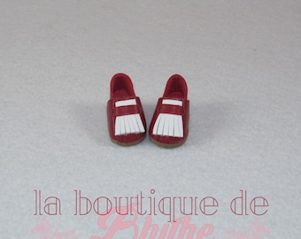 Red and white leather shoes for Blythe doll-red and white leather shoes for Blythe