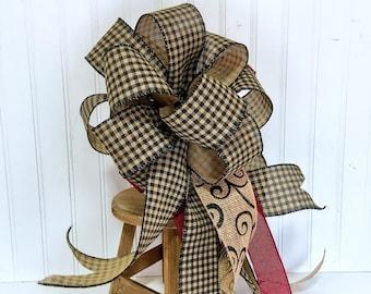 Rustic Bows for Wreaths, Farmhouse Bows, Large Wreath bows, DIY Wreath Making Bows, burlap bows for wreaths
