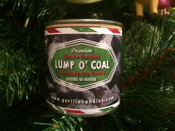Lump of Coal naughty coal scented candle