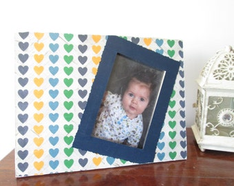 4x6 Heart Themed - Hand Decorated Picture Frame