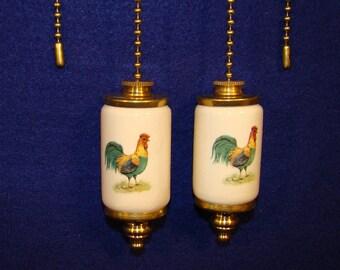 Rooster Fan & Light ceiling fan pull chain, light pull chain