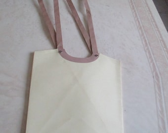 Yellow wrapping paper bag