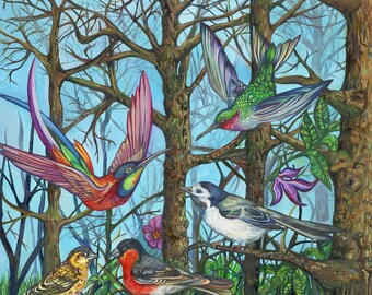 The Birds and the Trees limited edition giclee fine art print