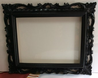 Vintage frame, black frame, frame with mirror, plaster frame, mirror, vintage furniture, gift for her and him, inauguration