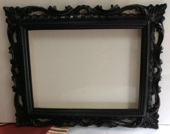 Cornice vintage cornice nera cornice con specchio cornice - Specchio con cornice in gesso ...