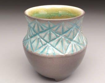 Hand carved Porcelain Cup