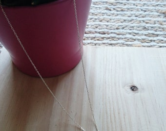 Silver necklace with Feather and Swarovski