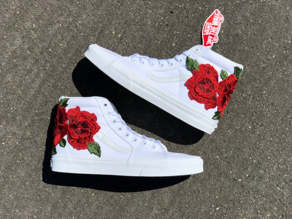 vans floral embroidery