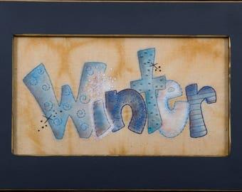 "Stitchery Pattern - ""Winter"", Digital Download"
