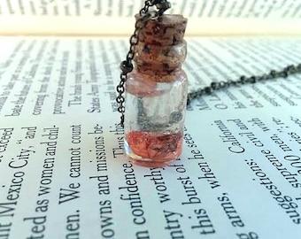 Anatomical Brain - Creepy Jewelry - Anatomy Jewelry - Nerd Jewelry - Miniature Glass Vial Necklace - Science Jewelry - Geek Jewelry - Zombie