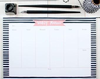 Desk Planner Weekly Tear Off Pad