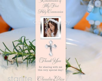 First Communion Favors Girl | 1st Communion Book Mark Favors | Printed Bookmarks | Printable Bookmark Favors | Personalized Communion Favors