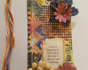 COLORFUL- Mixed Media Art Card Bookmark