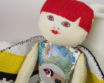Goldfinch Art Doll