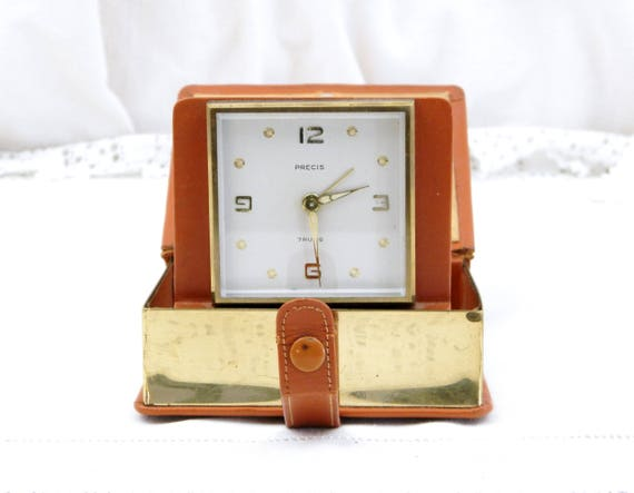 Novelty Pop Up Book Mechanical Travel Alarm Clock, Quality Working Vintage 7 Jewels Mechanism, Retro Timepieace Bed Room Accessory Decor