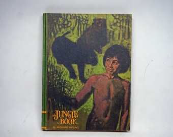 1968 The Jungle Book Hardcover, Vintage Children's Book, Collectible, Old Book, Kids Book, Decoration, Gold Seal Edition