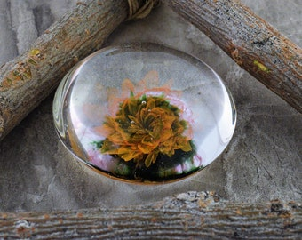 Pschyedelic Flower Hand-blown Glass Marble Energy Pillar Glass Art Love