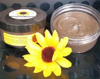 Dead Sea Mud Mask 4 oz. - Baby Shower Gift - BFF Gift - Teacher Gift - Hostess Gift - Bath Set - Spa Party Favor, Dead Sea Mineral Mud Mask