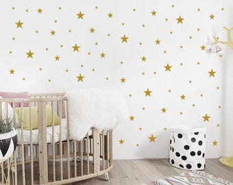 Nursery Stars Wall Decals / Nursery Wall Decal. Star Wall Decal. Star Wall Stickers. Wall Vinyl Sticker Nursery. Baby Room Decor Art F10