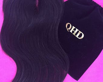 """Virgin Peruvian 4x4 hair closure Silky Straight Nature Color 18"""" & 20"""" available Freestyle"""