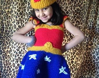 Crochet Wonder Woman Costume for Toddler!