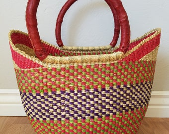 Ghanaian Sunset - African U-Shopper Basket