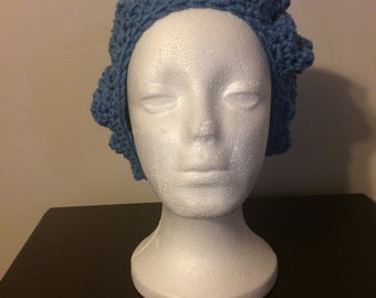 Crochet Beret - Bluebell