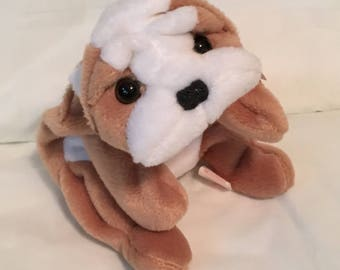 TY Beanie Baby - WRINKLES the Dog - Pristine with Mint Tags -RETIRED