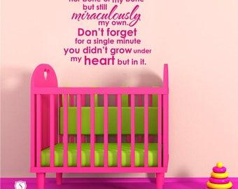 Nursery Adoption Creed Wall Decal - Vinyl Text Wall Stickers Art Graphics Custom Home Decor