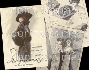 1910s Digital Download Vintage TITANIC Era Edwardian PARIS Fashion Antique Store Catalog - 34 Pages Printable Pdf