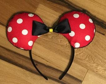 Classic Dots Minnie Ears, Mickey Ears, Custom Disney Inspired Ears