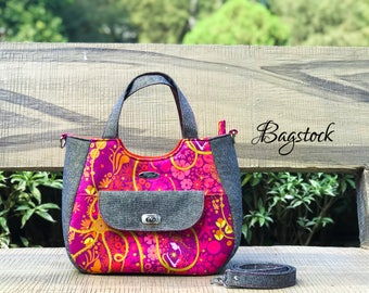 Ruby Handbag, PDF sewing pattern, Bagstock Designs