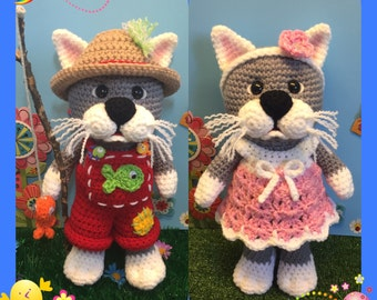 Country Kitties (PDF pattern only, this is not the finished doll)