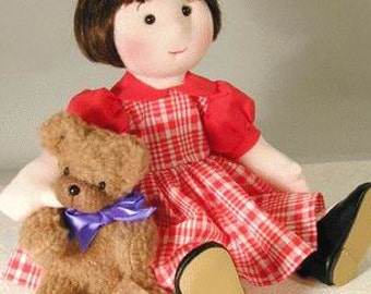 Cloth doll sewing pattern - 14 inch rag doll pattern - Miss Morrissey PDF