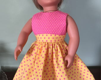 Pink and Yellow Doll Dress