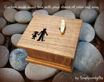 Daddys girl, daddy and me, music box, gift for daughter, custom music box, father of the bride gift, love dad, father's day gift,