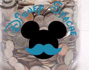 Disney Stache- Vinyl Wall Art