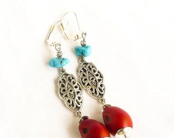 Texas Mountain Laurel seed earrings