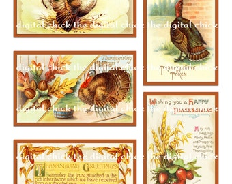 Vintage Victorian Thanksgiving Images--instant digital download--turkey clipart, turkeys, acorns, leaves, wheat--(8.5 by 11 inches)  178