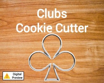 "4"" Clubs Cookie Cutter (Icon Set)"