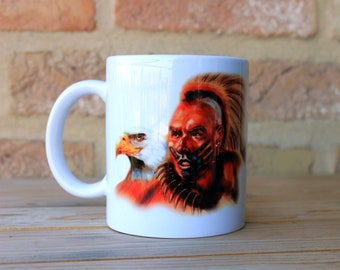 Native American Mug Ceramic Mug Unique Gift Coffee Mug Animal Mug Tea Cup Art Illustration Cool Kitchen Art Printed mug