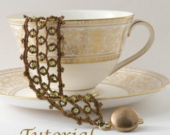 Beaded Bracelet Tutorial Edwardian Splendor Digital Download