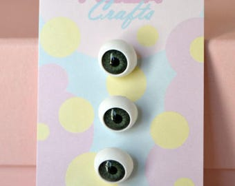 1/2 Inch Eyeball Shank Buttons: Style 3