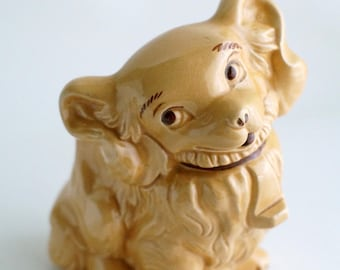 Vintage kitsch dog planter, Kewpie puppy planter, vintage ceramic decor accent