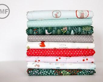 Little Red Complete Collection Fat Quarter Bundle, 9 Pieces, Dear Stella Fabrics, 100% Cotton Fabric