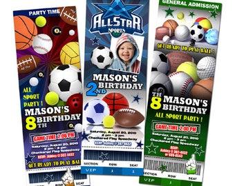 all star birthday party invitation digital file custom printable personalized